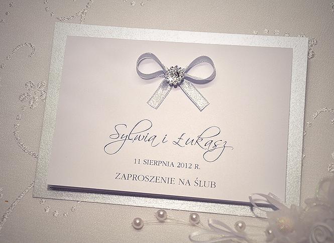 Eleganckie Zaproszenia ślubne Kolekcja Cristal Personalizacja